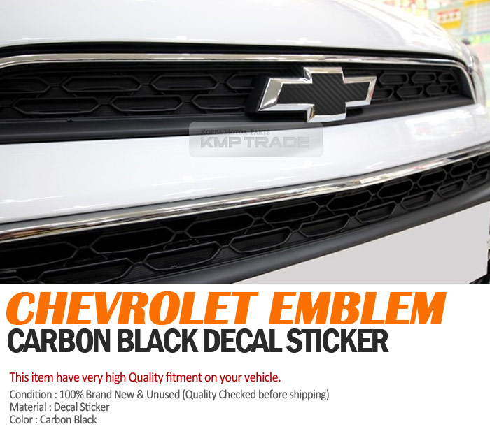 2018 Chevrolet Spark Camshaft: Front Rear Black Carbon Emblem Badge Decal Sticker For