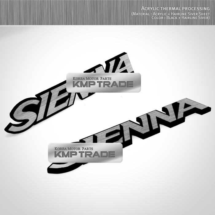 2016 Toyota Sienna Exterior: Side Front Trunk Hairline Emblem Point Badge 2pcs For