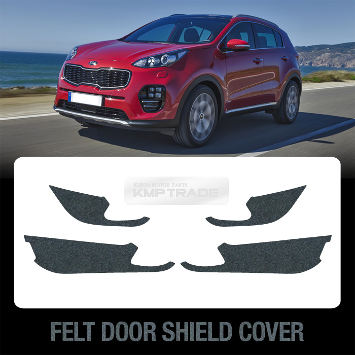 Felt Door Shield Cover Anti Scratch Sticker Protector For