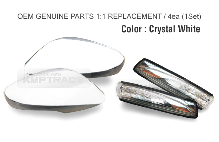 Oem Side Mirror Cover Led Repeater Crystal White For