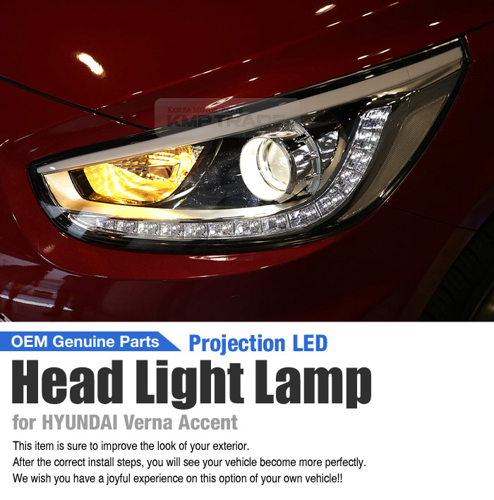 Details about OEM Genuine Projection LED DRL Head Light Lamp LH for HYUNDAI  2011-2017 Verna