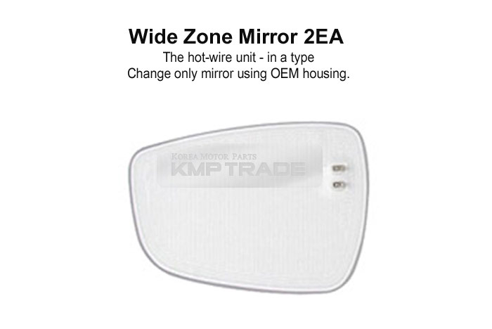 W-Zone Blind Spot Multi Curved Side Mirror LH+RH for SSANGYONG 2001-2012 Rexton