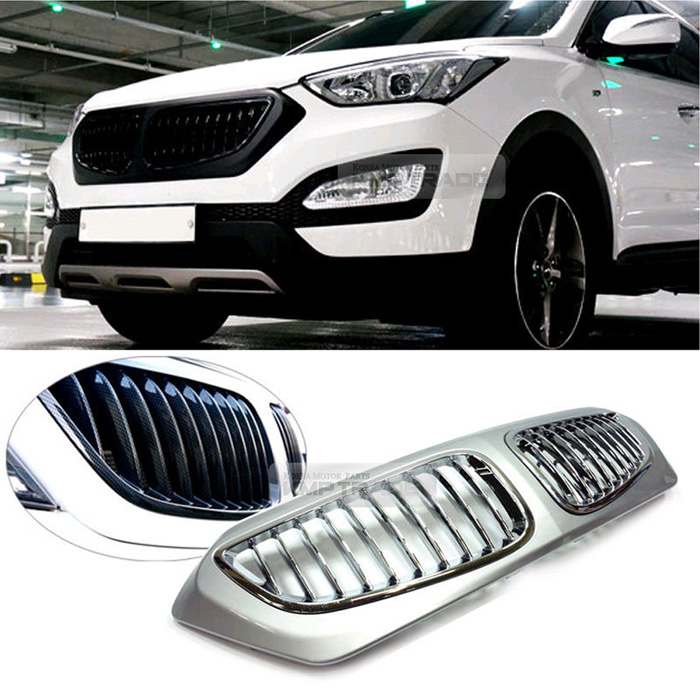 Santa Fe Bmw >> Bmw Style Front Carbon Radiator Grille Painted For Hyundai