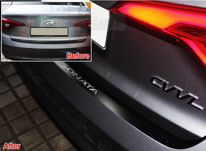 How To Remove Stickers From Car Window >> Matt Black Rear Bumper Protecter Decal Sticker For HYUNDAI ...