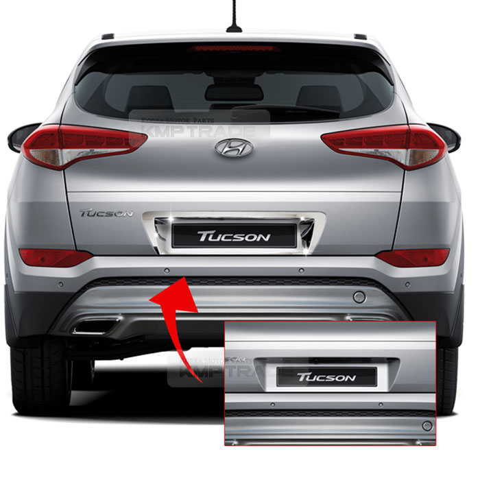 Chrome Rear License Plate Number Trim For Hyundai 2016