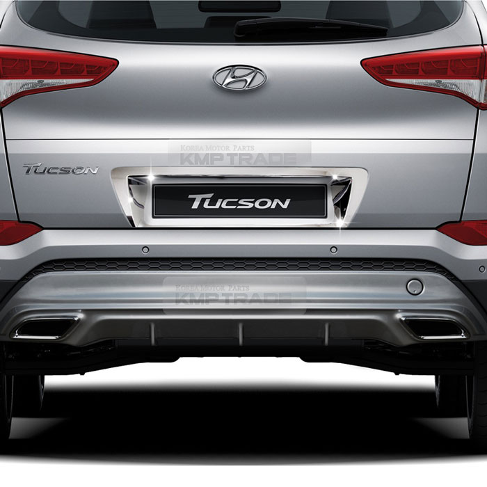 for Hyundai Tucson 2016 2017 2018 2019 Plastic Exterior Accessories Outer Rear Bumper Protector Plate Door Sill Plate Cover Trim 1PCS