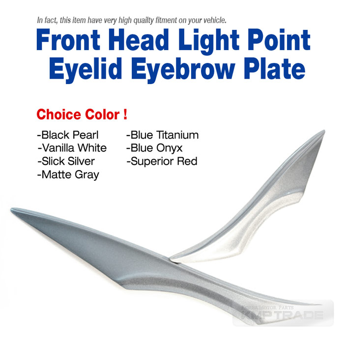 Front Head Light Point Eyelid Eyebrow Painted Plate For