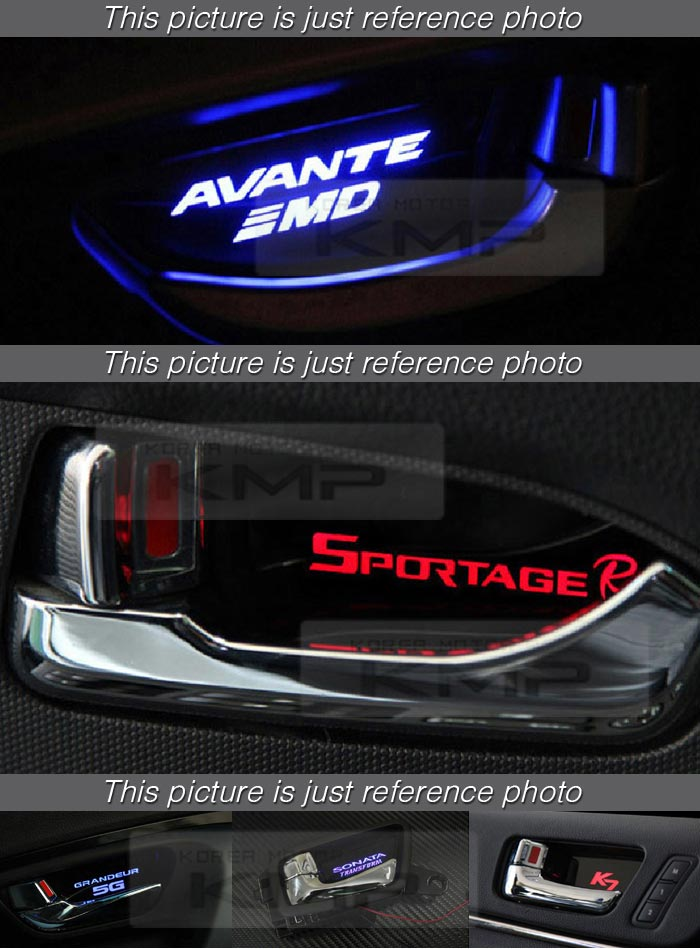 Red LED Inner Door Catch Handle Plate Panel 4EA For KIA 2014-2016 2017 2018 Soul