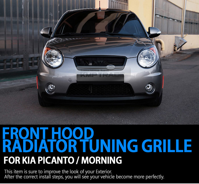 Front Hood Radiator Genuine Color Grille Cover For Kia