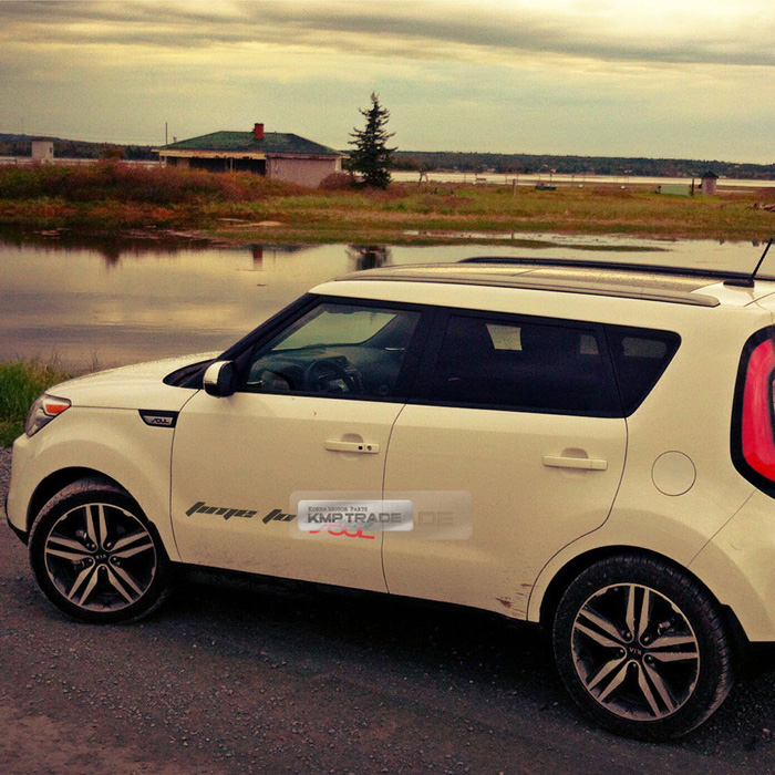 Kia Soul Slogan Material Decal Sticker Cover 6color For