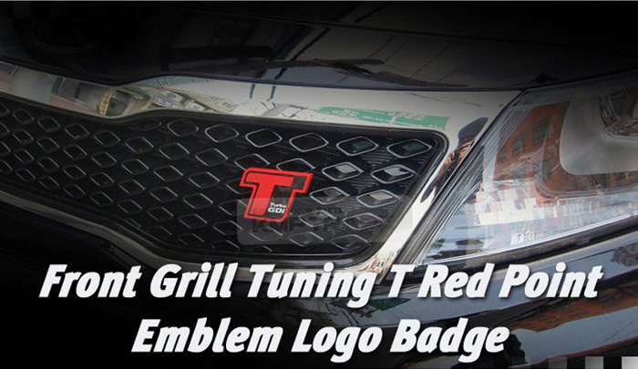 Front Grill Turbo GDi Red Point Emblem Logo Badge for KIA 2013-2015 Optima K5