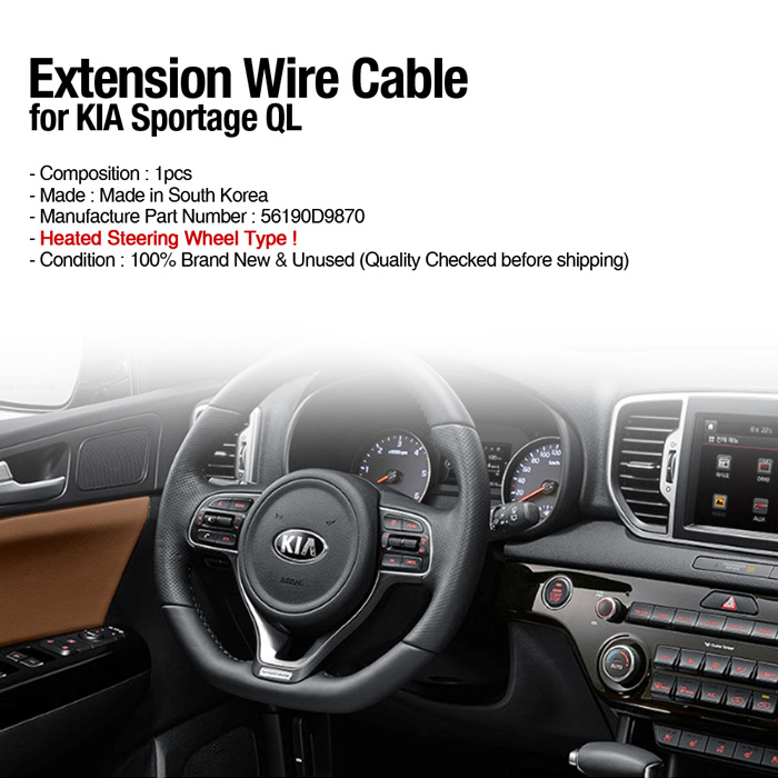 56190 D9870 Steering Wheel Heated Extension Wire for 2017 2018 Kia Sportage