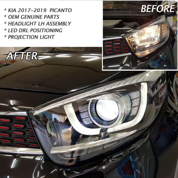 OEM Front LED Projection Head Light Lamp LH For KIA 2017